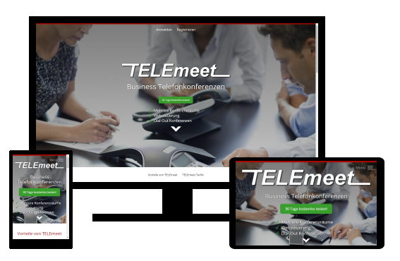 Screenshot Referenz Webdesign von Telemeet